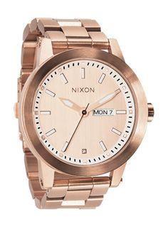 Nixon Spur watch in rose gold