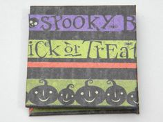 Handmade Halloween Book Card  - Ghosts