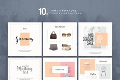 Multipurpose - Social Media Pack by Trendest Studio on Facebook Banner, For Facebook, Social Media Template, Social Media Design, Business Brochure, Business Card Logo, Instagram Design, Instagram Layouts, Instagram Feed