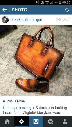 Great shoes and bag chosen by my friends #thebespokenmogul. So classy I love it !!!!