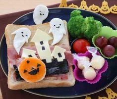 Halloween Bento(^^) トーストでハロウィン
