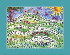 art print of Bahai Prayer  for children by atinyseed on Etsy