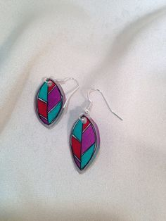 Feather Earrings on Etsy, $8.00