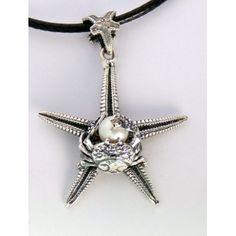 Ciondolo stella e granchio con perla