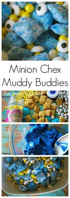 Minion Recipes! Muddy Buddies Chex Mix