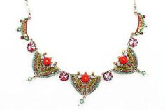 Adaya Exotic Style Necklace Set with Triangle Links Crafted with Alpaca, Dangle Beads and Sparkling Swarovski Crystals; Designed by Israeli Artist Maya Rayten  http://electmejewellery.com/jewelry/jewelry-sets/adaya-exotic-style-necklace-set-with-triangle-links-crafted-with-alpaca-dangle-beads-and-sparkling-swarovski-crystals-designed-by-israeli-artist-maya-rayten-ca/