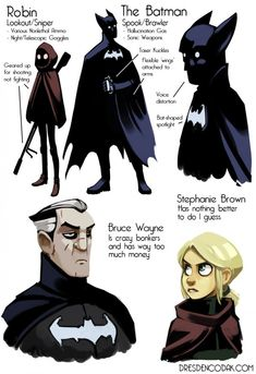 Batman and Robin (alternative designs & origins) - Aaron Diaz