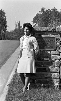 Wilhelmina Reuben-Cooke, May Queen, 1967. In 1967, following a write-in election by her peers in the Woman's College (now Trinity College East Campus), Wilhelmina Reuben-Cooke was elected May Queen. This was a recognition of her achievements both in and out of the classroom and her contribution to the Duke community as an undergraduate. She became the first black May Queen in Duke history. By Duke Yearlook, via Flickr