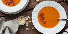 Put a spicy twist on butternut squash soup. Makes enough for a family dinner or a week of meal prep, and it's a great way to warm up on a chilly day!