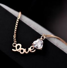 Diamond Love Heart Necklace | LilyFair Jewelry, $16.99!