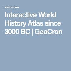 Interactive World History Atlas since 3000 BC | GeaCron