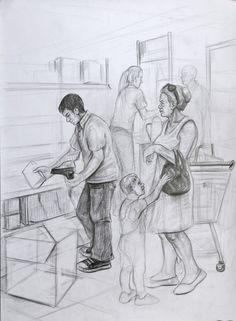 Drawing For Beginners Bursa Sanat Evi 324 - Related Human Figure Sketches, Human Sketch, Human Drawing, Figure Sketching, Figure Drawing Reference, Manga Drawing, Space Drawings, Easy Drawings, Pencil Drawings