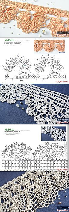 Several beautiful crochet patterns from MyPicot. - Pantry skhemok (Vyazaechka) - Country Mom