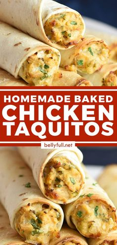 These homemade Baked Chicken Taquitos rival anything you'll buy at the store. Using shredded chicken, cream cheese, and flour tortillas, they're super easy and flavorful. Plus they freeze beautifully so you can make extra and have a meal for later!