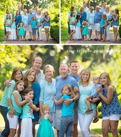 Family Reunion Photos with great family outfits by Amy Tripple Photography