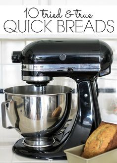 10 easy quick bread recipes that are sure to become family favorites! On Sutton Place is part of Quick bread recipes - Kitchen Aid Recipes, Kitchen Aid Mixer, Kitchen Tools, Kitchen Gadgets, Kitchen Ideas, Quick Bread Recipes, Baking Recipes, Easy Bread, Skillet Recipes