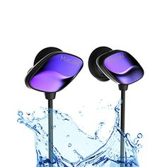 Bluetooth Headphones Macaw Sweatproof Sport Bluetooth Wireless Earphone with Mic Noise Cancelling Running Gym Headsets with Free Tips for IOS Android Cell Phone Blue ** Find out more about the great product at the image link. Ps4 Headset, Free Tips, Bluetooth Headphones, Noise Cancelling, Cell Phone Accessories, Ios, Android, Running, Sport