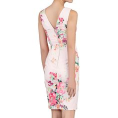 BuyJolie Moi Floral Sleeveless Ruched Dress, Pink/Multi, 6 Online at johnlewis.com