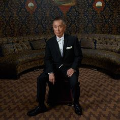 George Takei in the TodayTix Tony Awards lounge at the O&M after-party at The Carlyle. Photo by Amy Arbus.