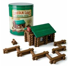 I never knew this - Lincoln Logs were developed by Frank Lloyd Wright's son, John L. Wright, and were inspired by the interlocking logs his father used in the Imperial Hotel in Tokyo.