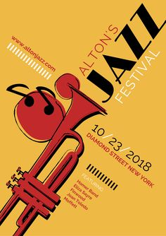 Jazz Music Festival Poster - Canva