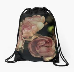 Roses Drawstring Bag by ARTbyJWP from Redbubble #roses #drawstringbag #bags #fabricbag #backpack #bag #redbubble #artbyjwp ---- Bouquet of beautiful roses in vintage mood. • Also buy this artwork on bags, apparel, stickers, and more.