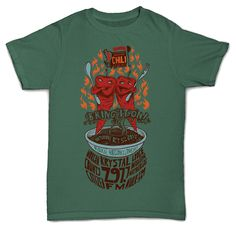 This is a tee illustration and design I got commissioned to do for Chili Cook-Off Festival '13 in Madison.