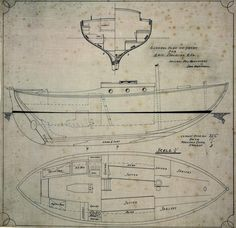 General arrangement plan of motorised yacht CHRISTINA | Works | Lars Halvorsen | People | The Collection | Australian National Maritime Museum