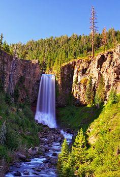 Tumalo Falls, near Bend, Oregon:
