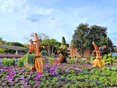 Fantasia Topiaries located at West Future World in Epcot at the 2015 Epcot International Flower & Garden Festival