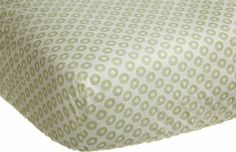 """Amazon.com: Carter's Green Elephant Fitted Sheet, Green 28 X 52"""": Baby"""