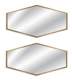 Dark Brown/Gold Wall Mirror