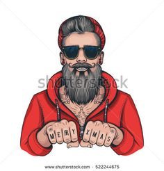 Find Vector Color Hipster Tattoo Santa Illustration stock images in HD and millions of other royalty-free stock photos, illustrations and vectors in the Shutterstock collection. Hipster Illustration, Illustration Art, Beard Logo, Hipster Tattoo, Bad Santa, Hipster Man, Christmas Art, Caricature, Vector Art