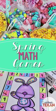 Math games are key activities for a successful mathematics block!  These spring math games are perfect for centers in Kindergarten and some First Grade classrooms.  Composing and decomposing numbers, addition, subtraction, 3D shapes, critical thinking, it's all included!