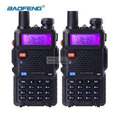 buy 2pcs baofeng uv 5r walkie talkie dual band vhfuhf136 174mhz400 520mhz portable cb ham radio #hf #transceiver