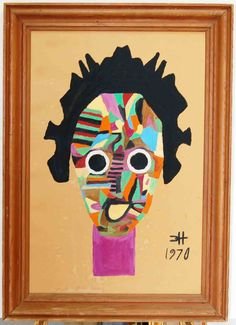 """""""MAW MAW"""" c. 1970 by Clementine Hunter Now Showing at gilleysgallery.com"""