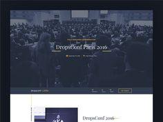 DropConf by Mizan  #Design Popular #Dribbble #shots