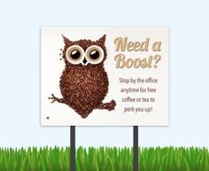 We all need a boost here and there. Get these adorable bandits signs and retain those residents!   #amenitymarketing #residentretention #residentevent #freecoffee #coffeebar