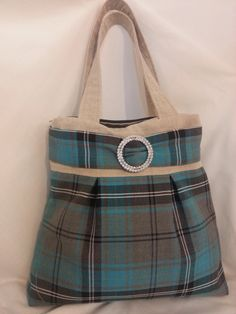 Handmade Handbag. Tartan by Floristo4ka on Etsy
