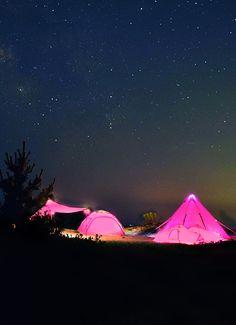 DOPPELGANGER OUTDOOR (ドッペルギャンガーアウトドア) 略してDOD。 ド派手なピンクで注目の的。ピンクシリーズ。 #キャンプ #アウトドア #テント #タープ #チェア #テーブル #ランタン #寝袋 #グランピング #DIY #BBQ #DOD #ドッペルギャンガー #camp #outdoor Outdoor Life, Outdoor Gear, Luxury Tents, Mini Farm, The Mountains Are Calling, Closer To Nature, Outdoor Adventures, Happy Campers