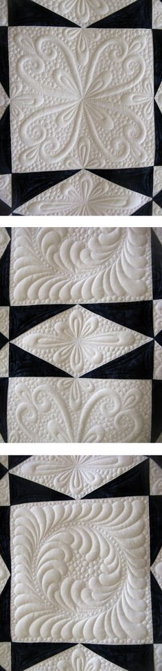 Black and white quilt, 2011: Beautiful quilting by Judi Madsen at Green Fairy Quilts