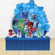 Pj Mask Party Decorations, Birthday Decorations, Decoracion Pj Mask, 5th Birthday, Birthday Parties, Festa Pj Masks, Displays, Ideas, Toddler Boy Birthday