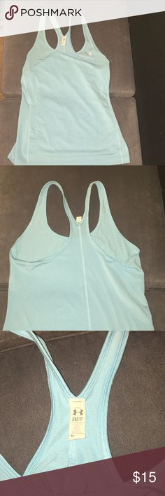 Blue Under Armour Tank light blue tank, dri-fit material, worn a few times Under Armour Tops Tank Tops