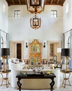 An Italianate Mansion in Los Angeles That Breaks the Mold – Living room Project Portfolio, Gracie Wallpaper, Los Angeles Apartments, Design Salon, L Shaped Sofa, Outdoor Seating Areas, Custom Cabinetry, Architectural Digest, Architecture Design