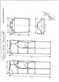 Esquema de modelagem de Vestido Tubinho tamanho 36.