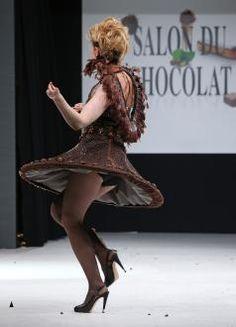 paris chocolate fashion show   19th annual Salon du Chocolat in Paris on October 29, 2013. The show ...
