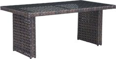 Zuo Modern 703515 Pinery Dining Table Color Brown Aluminum Frame Finish