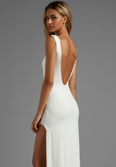 formal backless white dress