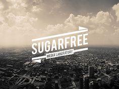 Sugarfree logotype / pinned on toby designs