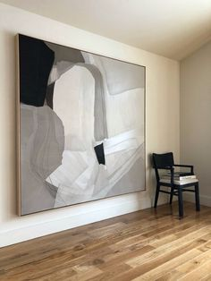 Carlyle Abstract: Duck cloth collage oil painting in neutrals Viven algo mejor que not Decoration Design, Design Art, Interior Design, Modernisme, Living Room Art, Large Art, White Art, Art Decor, Home Decor